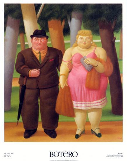 Una Coppia, 1999-Fernando Botero-Art Print