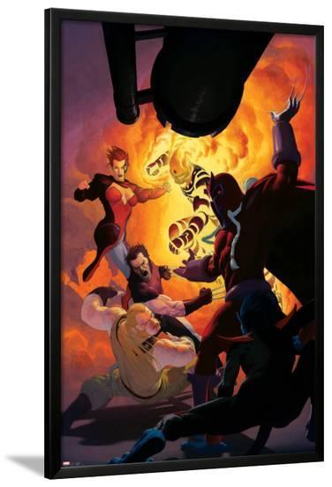 Uncanny X-Force No.11: Magneto, Sabretooth, Wolverine, Jean Grey, Sunfire-Esad Ribic-Lamina Framed Poster
