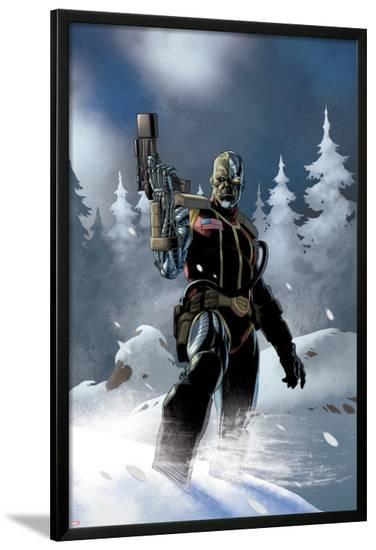 Uncanny X-Force No.5: Deathlok Standing with a Gun in the Snow-Esad Ribic-Lamina Framed Poster