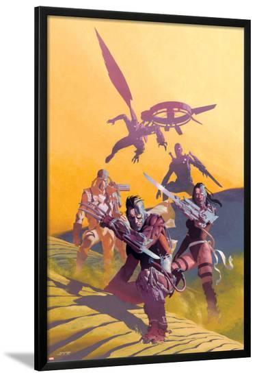 Uncanny X-Force No.6 Cover: Wolverine, Psylocke, and Fantomax-Esad Ribic-Lamina Framed Poster