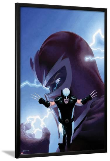 Uncanny X-Force No.9 Cover: Wolverine and Magneto-Esad Ribic-Lamina Framed Poster