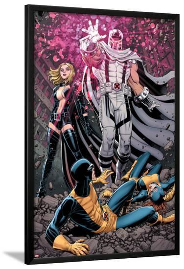 Uncanny X-Men #12 Cover: Magneto, Frost, Emma, Cyclops, Grey, Jean-Arthur Adams-Lamina Framed Poster