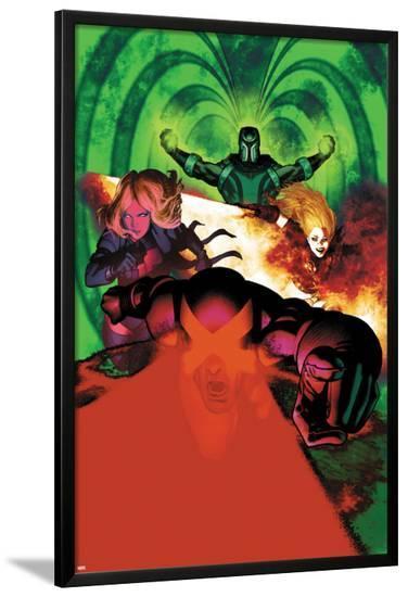 Uncanny X-Men #5 Cover: Cyclops, Magik, Frost, Emma, Magneto-Frazer Irving-Lamina Framed Poster