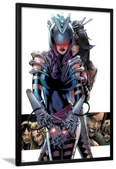 Uncanny X-Men #508 Featuring Psylocke-Greg Land-Lamina Framed Poster