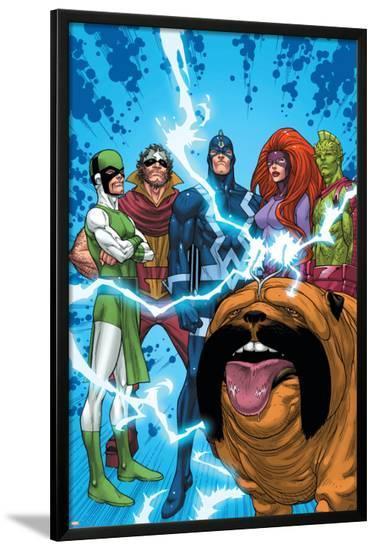 Uncanny X-Men: First Class No.1 Group: Black Bolt, Medusa, Lockjaw, Karnak, Gorgon and Triton-Roger Cruz-Lamina Framed Poster