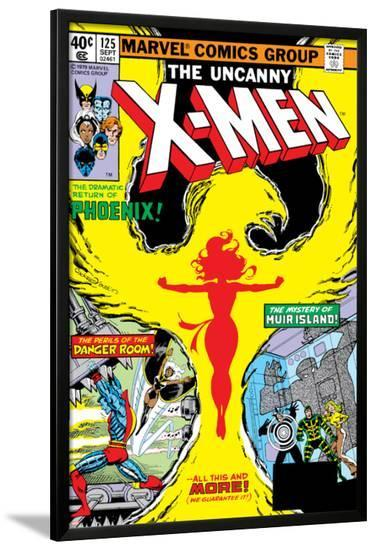 Uncanny X-Men No.125 Cover: Phoenix, Colossus, Storm, Madrox and Havok-John Byrne-Lamina Framed Poster