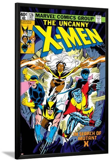 Uncanny X-Men No.126 Cover: Wolverine, Colossus, Storm, Cyclops, Nightcrawler and X-Men Fighting-Dave Cockrum-Lamina Framed Poster