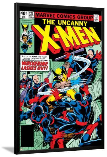 Uncanny X-Men No.133 Cover: Wolverine and Hellfire Club-John Byrne-Lamina Framed Poster