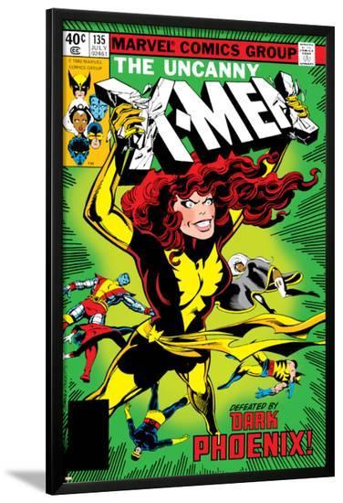 Uncanny X-Men No.135 Cover: Grey, Jean, Colossus, Wolverine, Storm, Cyclops, Dark Phoenix and X-Men-John Byrne-Lamina Framed Poster