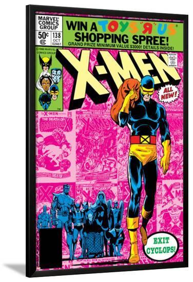 Uncanny X-Men No.138 Cover: Cyclops and X-Men-John Byrne-Lamina Framed Poster