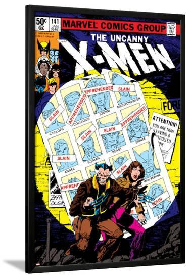 Uncanny X-Men No.141 Cover: Wolverine, Pryde and Kitty Charging-John Byrne-Lamina Framed Poster