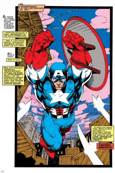 Uncanny X-Men No.268 Cover: Captain America-Jim Lee-Art Print