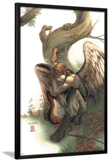 Uncanny X-Men No.438 Cover: Icarus-Salvador Larroca-Lamina Framed Poster