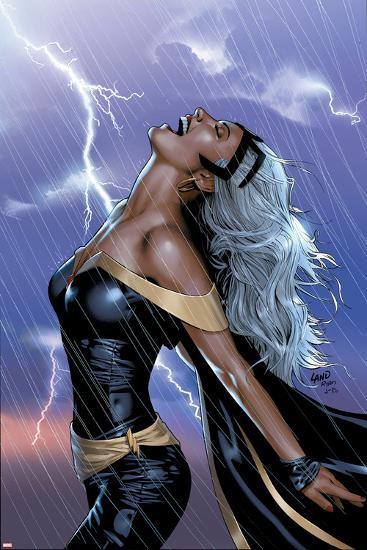 Uncanny X-Men No.449 Cover: Storm Swinging-Greg Land-Art Print