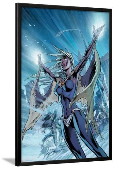 Uncanny X-Men No.459 Cover: Storm-Alan Davis-Lamina Framed Poster