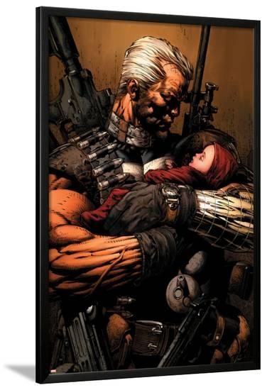 Uncanny X-Men No.493 Cover: Cable-David Finch-Lamina Framed Poster