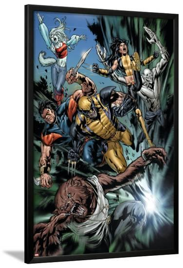 Uncanny X-Men No.493 Group: Wolfsbane, Wolverine, X-23, Warpath, Hepsibah and Caliban-Billy Tan-Lamina Framed Poster