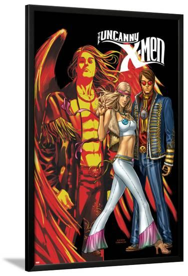 Uncanny X-Men No.497 Cover: Cyclops, Emma Frost and Angel-Mike Choi-Lamina Framed Poster