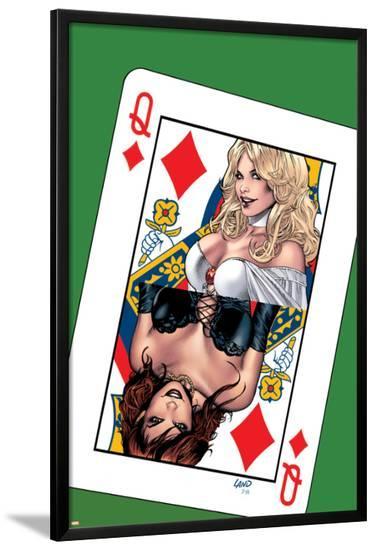 Uncanny X-Men No.503 Cover: Emma Frost, Pryor and Madelyne-Greg Land-Lamina Framed Poster