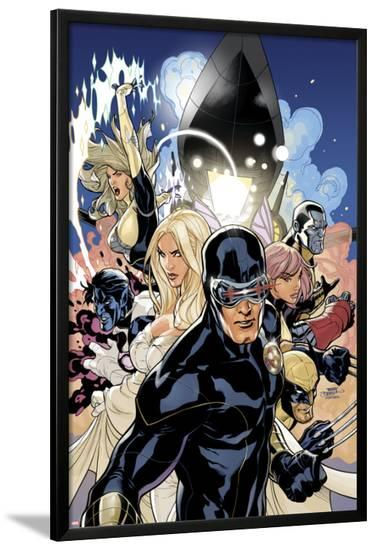 Uncanny X-Men No.505 Cover: Cyclops, Emma Frost and Dazzler-Terry Dodson-Lamina Framed Poster