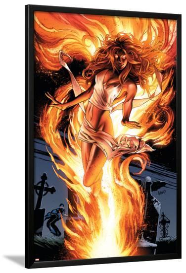 Uncanny X-Men No.511 Cover: Pryor and Madelyne-Greg Land-Lamina Framed Poster