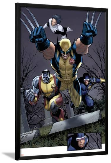 Uncanny X-Men No.511 Group: Wolverine, Cyclops, Colossus and Northstar-Greg Land-Lamina Framed Poster