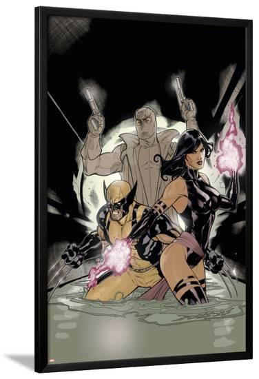 Uncanny X-Men No.520 Cover: Psylocke, Wolverine and Fantomax-Terry Dodson-Lamina Framed Poster