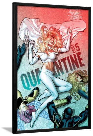 Uncanny X-Men No.534 Cover: Emma Frost has Fallen-Greg Land-Lamina Framed Poster