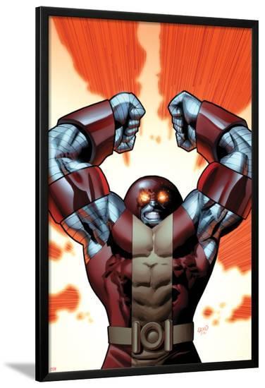 Uncanny X-Men No.543 Cover: Colossus Smashing-Greg Land-Lamina Framed Poster