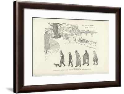 Unchilled Enthusiasm, Winter Bathing in the Serpentine-Phil May-Framed Giclee Print