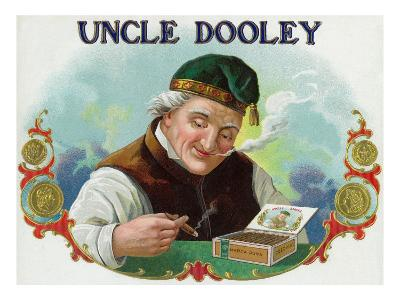 Uncle Dooley Brand Cigar Box Label-Lantern Press-Art Print