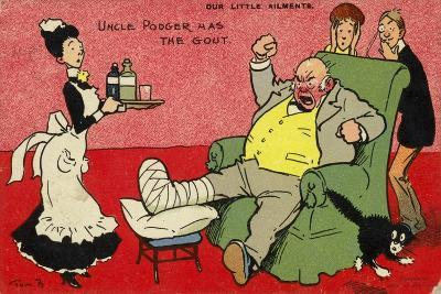 Uncle Podger Has the Gout--Giclee Print