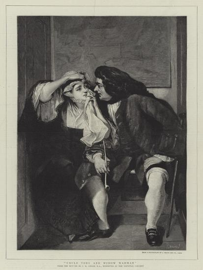 Uncle Toby and Widow Wadman-Charles Robert Leslie-Giclee Print