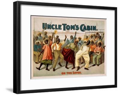 "Uncle Tom's Cabin ""On the Levee"" Blacks Play Poster-Lantern Press-Framed Art Print"