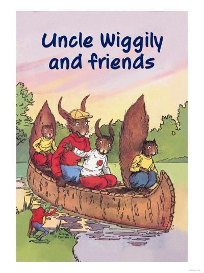 Uncle Wiggily and Friends: The Canoe Trip--Art Print