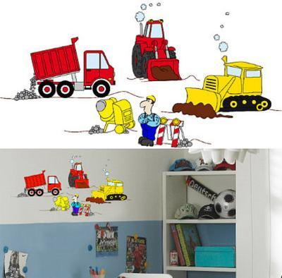 Under Construction 16 Wall Stickers--Wall Decal