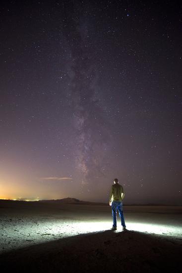 Under Milky Way In Playa Of Great Salt Lake At Antelope Island SP, Outside Of Salt Lake City, Utah-Austin Cronnelly-Photographic Print