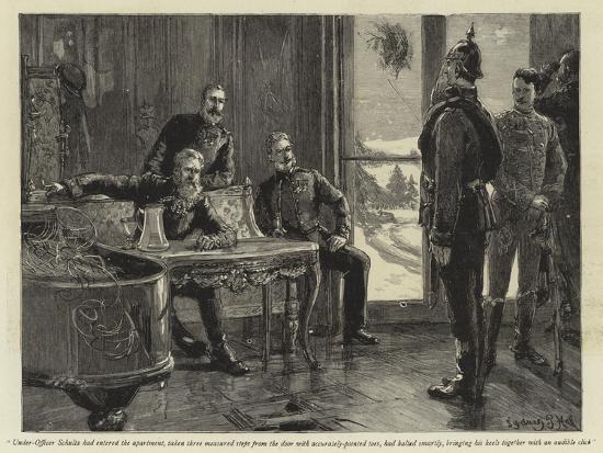 Under-Officer Schultz Had Entered the Apartment-Sydney Prior Hall-Giclee Print