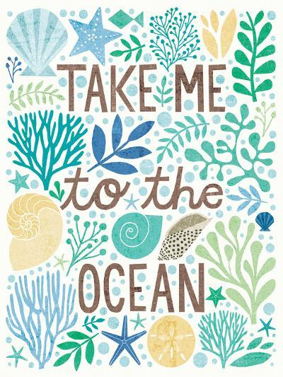 Under Sea Treasures IV Sea Glass-Michael Mullan-Art Print