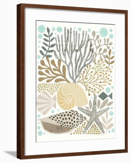 Under Sea Treasures VI Gold Neutral-Michael Mullan-Framed Art Print