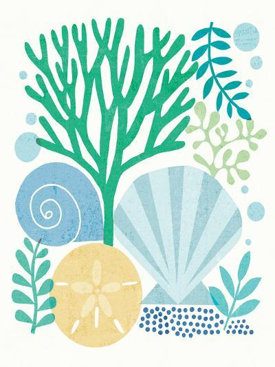 Under Sea Treasures VI Sea Glass-Michael Mullan-Art Print