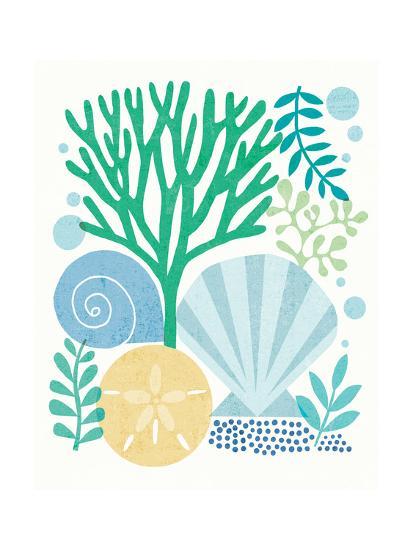 Under Sea Treasures VI Sea Glass-Michael Mullan-Art Print