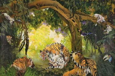 Under the Banyan Tree, 1997 (Inks, Acrylics and Pencil Crayon on Canvas)-Odile Kidd-Giclee Print