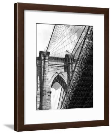 Under the Brooklyn Bridge-Phil Maier-Framed Photographic Print