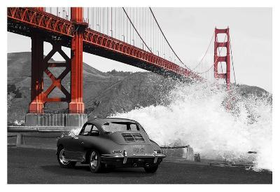 Under the Golden Gate Bridge, San Francisco (BW)-Gasoline Images-Giclee Print