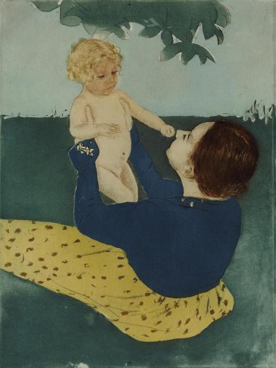 Under the Horse Chestnut Tree, 1896-7-Mary Cassatt-Giclee Print