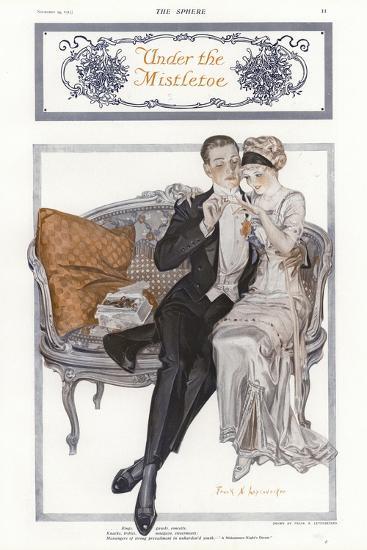 Under the Mistletoe--Giclee Print