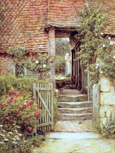 Under the Old Malthouse, Hambledon, Surrey-Helen Allingham-Giclee Print