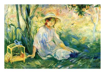 Under the Orange Tree-Berthe Morisot-Art Print
