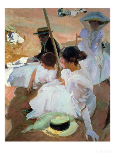 Under the Parasol, Zarauz, 1910-Joaqu?n Sorolla y Bastida-Giclee Print